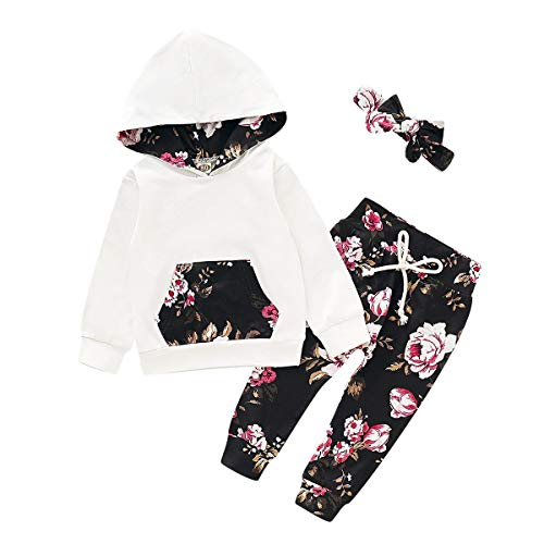 Simplee kids Baby Girl Unisex Hoodie Clothing Set Infant Casual Winter Fall Long Sleeve Pant Set for 6-12 Months