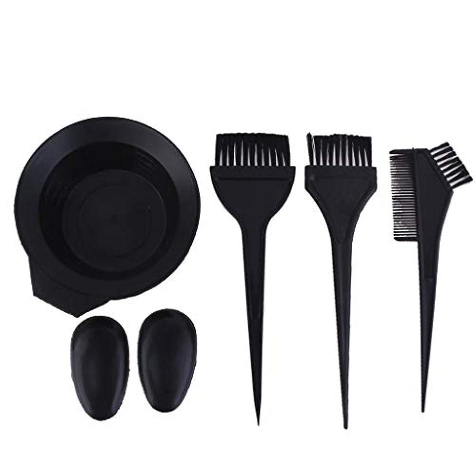 そこから南西関与するサロンの髪染めのためのプラスチック黒髪ボウル櫛ブラシキット