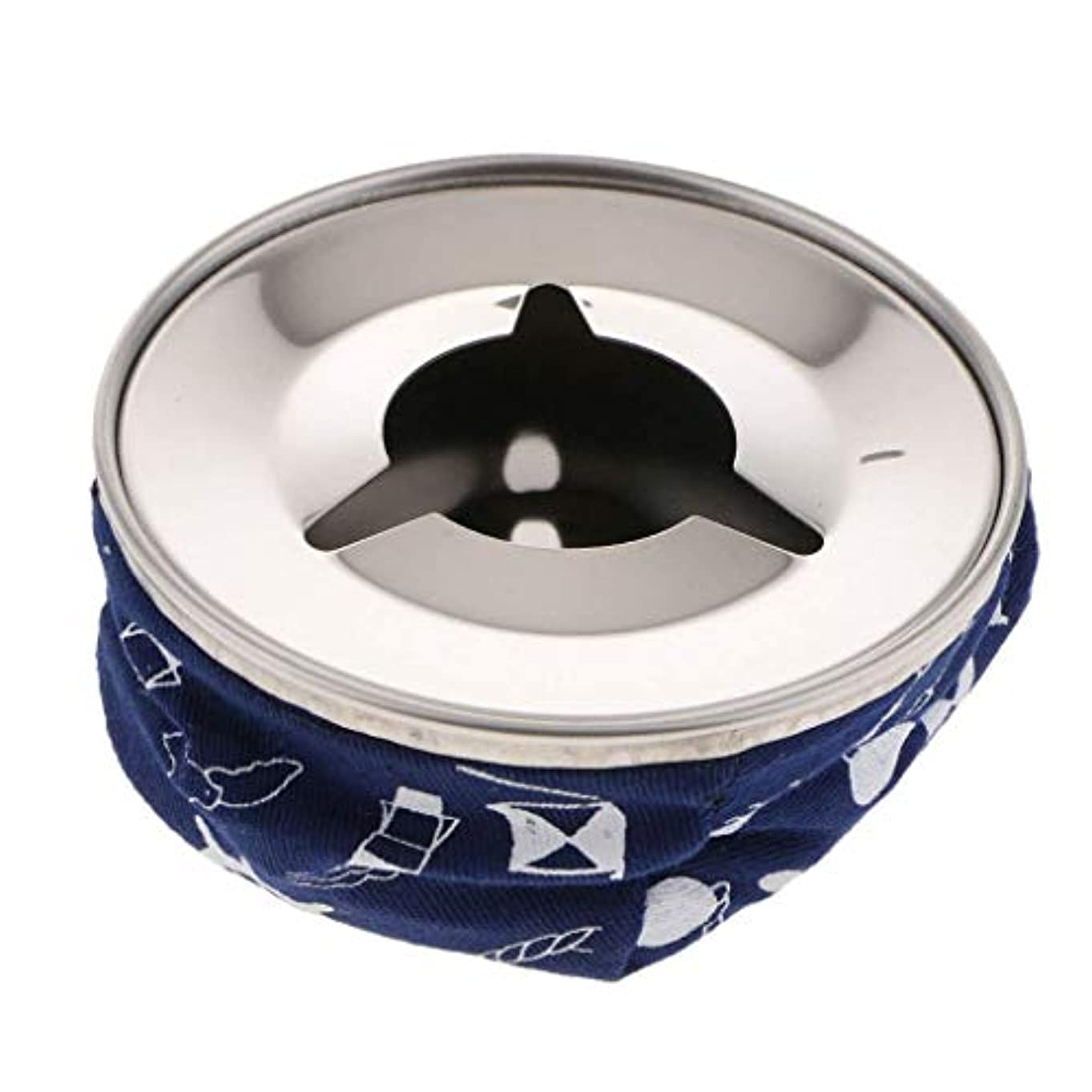 さわやか特別な実質的にFlameerステンレス防風ビーンバッグ灰皿たばこの灰ホルダー、ブルー