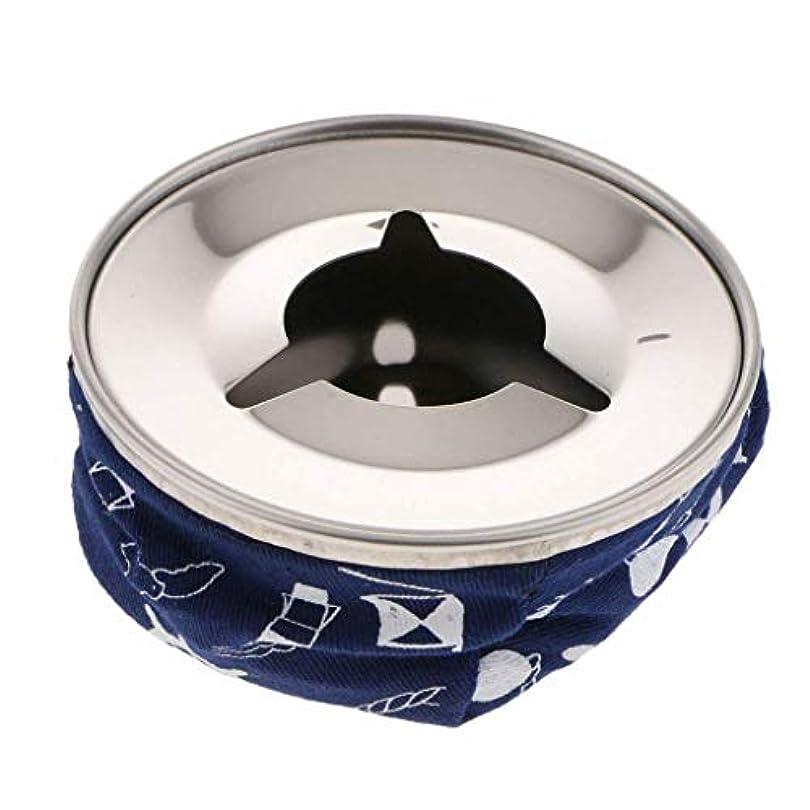 アンプ連帯航海Flameerステンレス防風ビーンバッグ灰皿たばこの灰ホルダー、ブルー