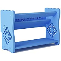 YANFEI 2階建てのシューズラックシンプルな家庭用スペース省スペース型ドミトリーバルコニー (色 : Blue)