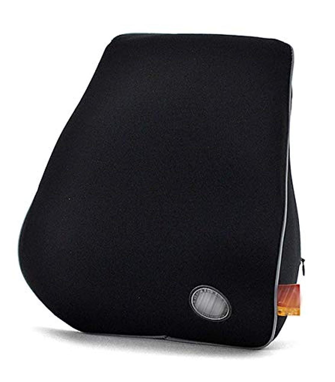 性差別賞縫い目カーカーシートプロテクター用シートカバー 背骨を保護するための調節可能な高さの記憶泡が付いている車のヘッドレスト カーシートクッションカーシートマット (色 : Black)