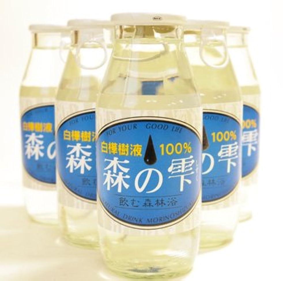 相対的外部会社白樺樹液100% 森の雫 180ml×6本