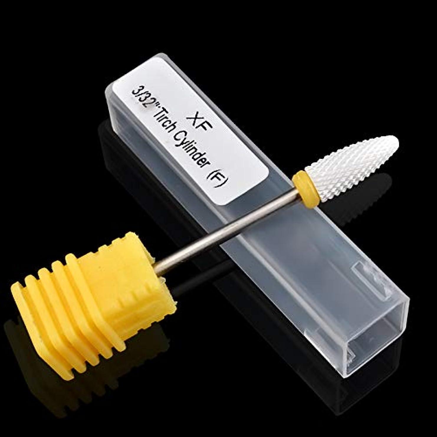 アラバマ変色する程度CELINEZL CELINEZLネイルセラミック円筒コーン型電力研削ヘッド、サイズ:49 * 6 mm(ブラック) (色 : 黄)