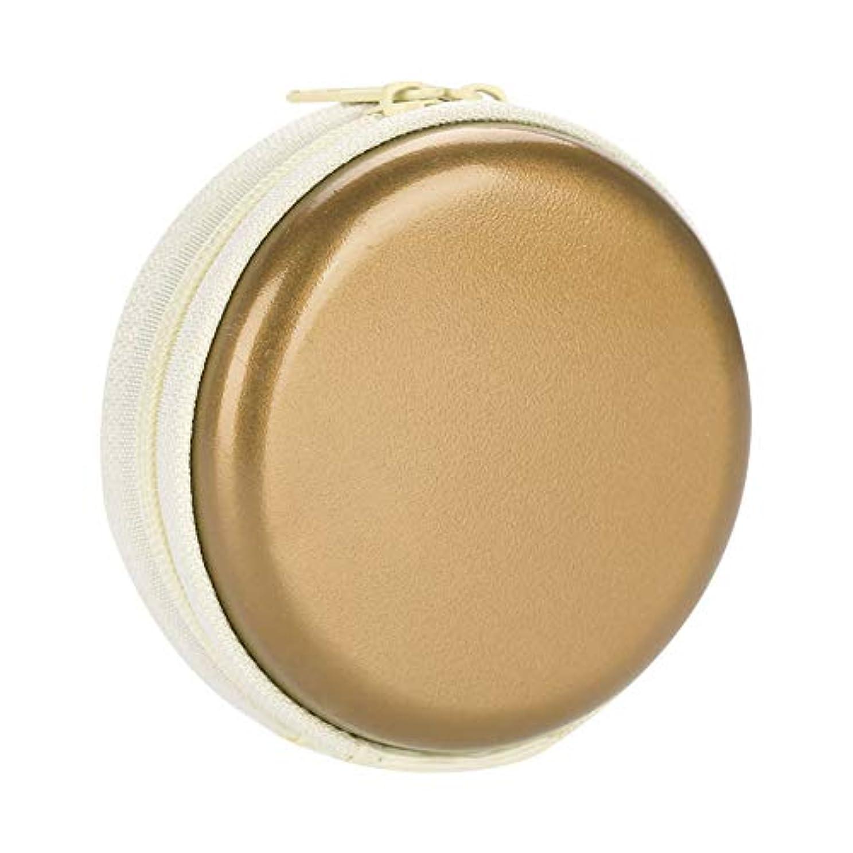 責め飢え魅力的エッセンシャルオイルキャリングケーストラベルキャリアコンテナコンパクト&ポータブルオイルバッグ保護外装ハードシェル付き外装ストレージ(Gold)