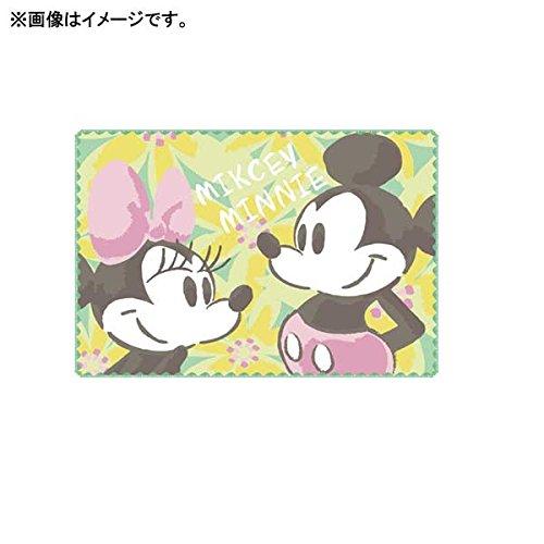 ミッキー&ミニー[バスマット]お風呂マット/フローラルグリー...