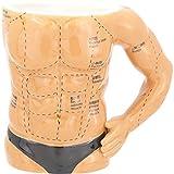 株式会社サンアート マグカップ ベージュ 360ml おもしろ食器 「筋肉の部位」 マグカップ SAN3016
