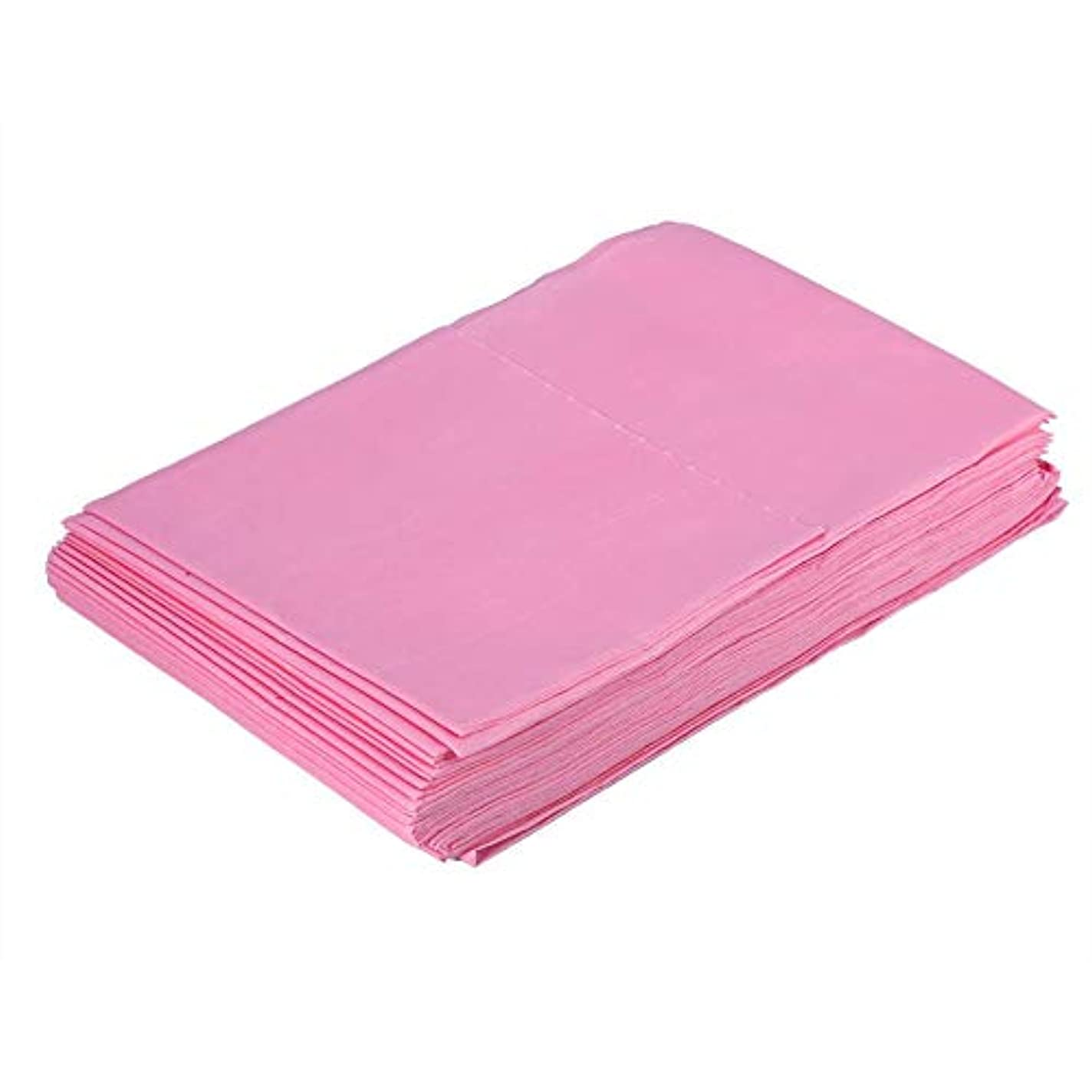 地下室金銭的な生じる使い捨て防水シーツマッサージ美容カバー(ピンク)