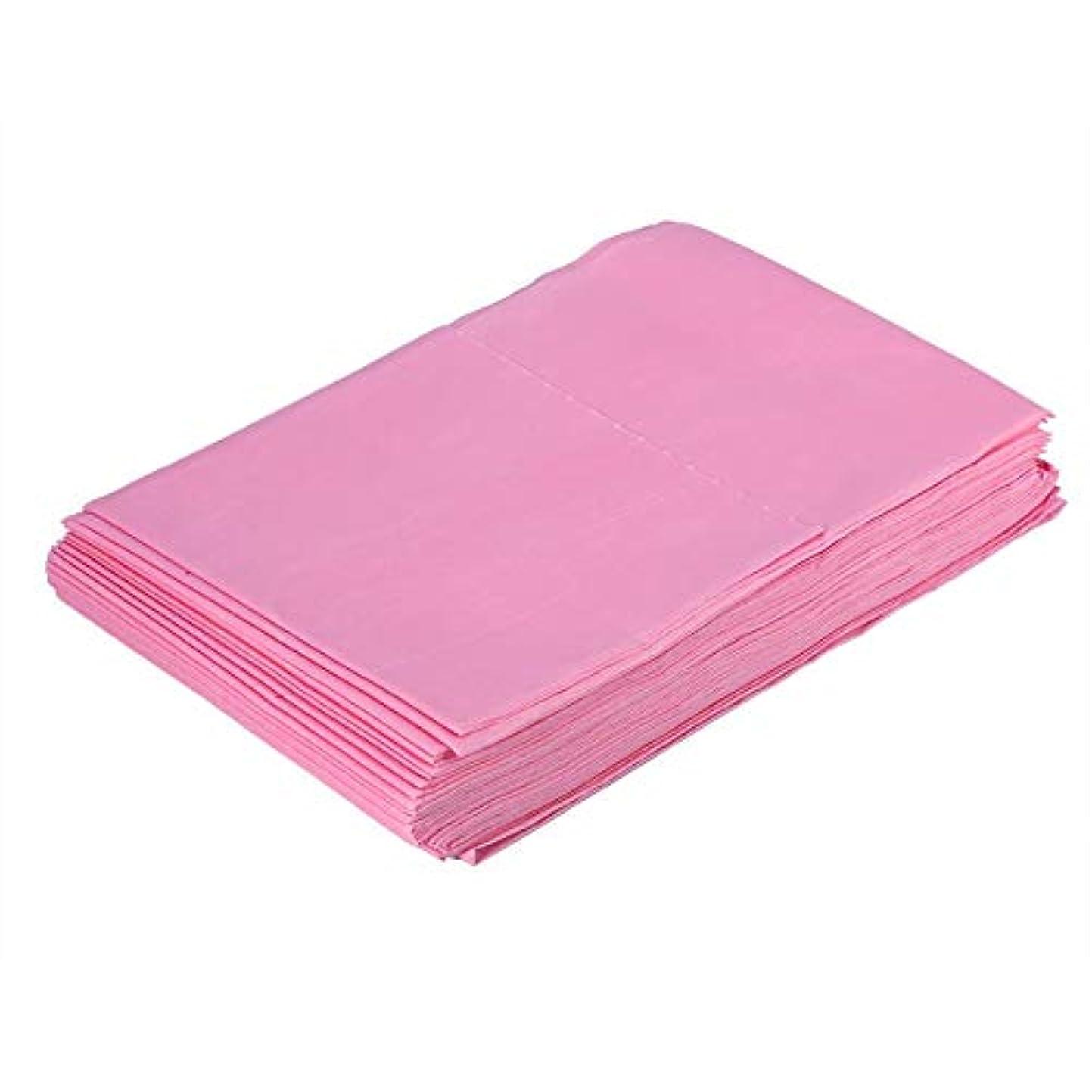 発揮する行進レキシコン使い捨て防水シーツマッサージ美容カバー(ピンク)