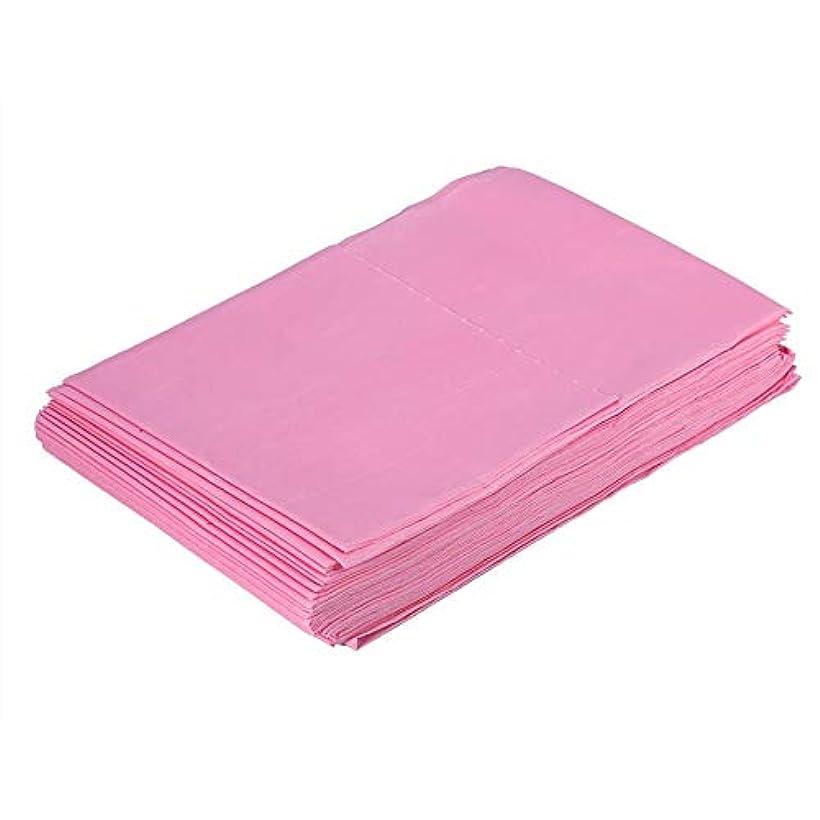 人差し指委任持参使い捨て防水シーツマッサージ美容カバー(ピンク)
