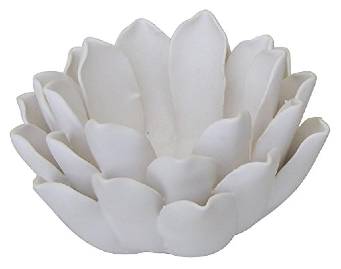 魔術動揺させる器官マルエス 燭台 陶器製 ロータス 小 ホワイト