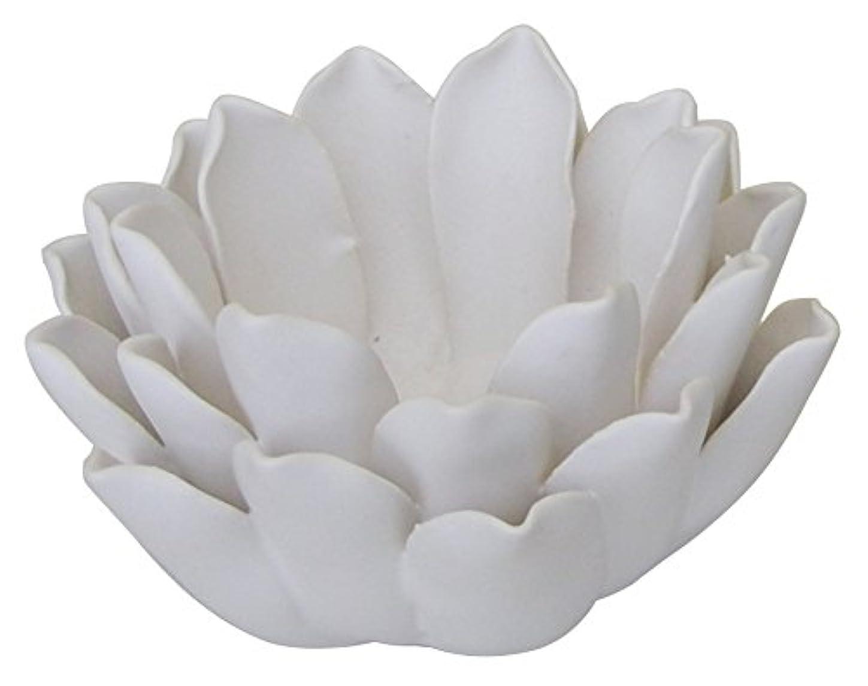後世夜明けにひらめきマルエス 燭台 陶器製 ロータス 小 ホワイト