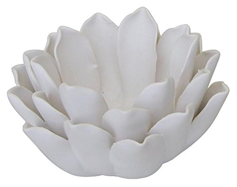 代理店傾向鎮痛剤マルエス 燭台 陶器製 ロータス 小 ホワイト