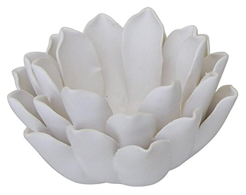 ポルティコ復活する固体マルエス 燭台 陶器製 ロータス 小 ホワイト