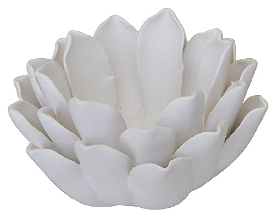 アミューズメント悪党焦げマルエス 燭台 陶器製 ロータス 小 ホワイト