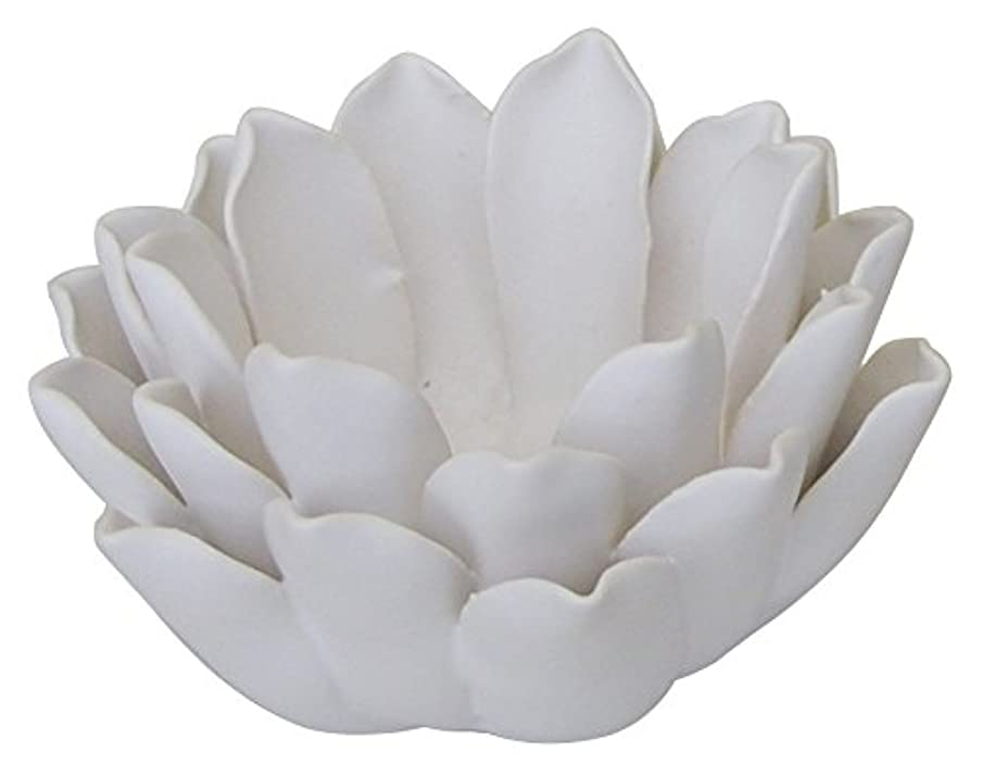 ペンダントストリームもろいマルエス 燭台 陶器製 ロータス 小 ホワイト