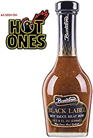 Bunsters Hot Ones Hot Sauce - Black Label 16/10 Heat Chili Pepper Sauce