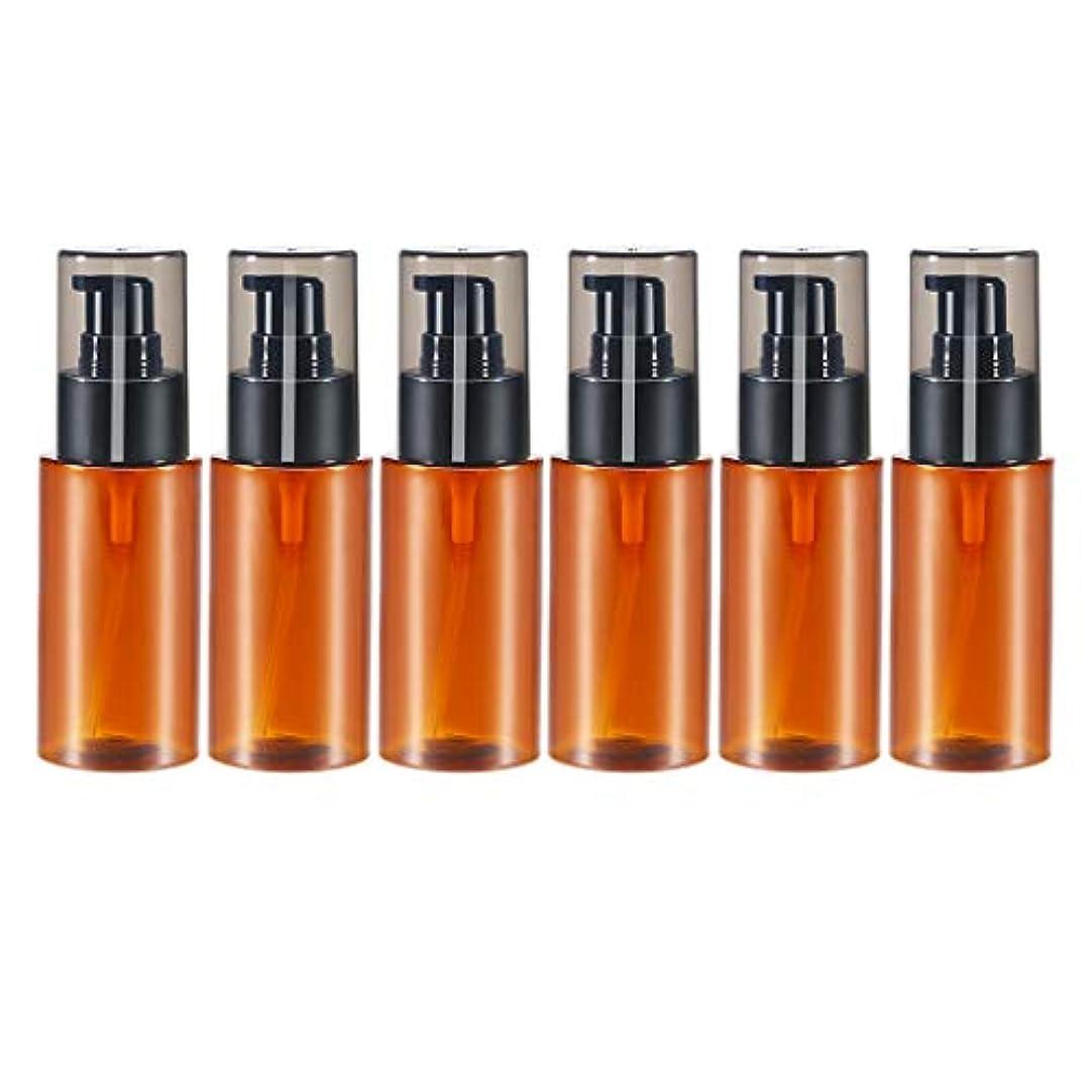 失望馬鹿げた前書きHellery スプレーボトル 60ml 6本 アロマオイル 精油 香水やアロマの保存 小分け用 保存 詰替え 全2色 - 褐色