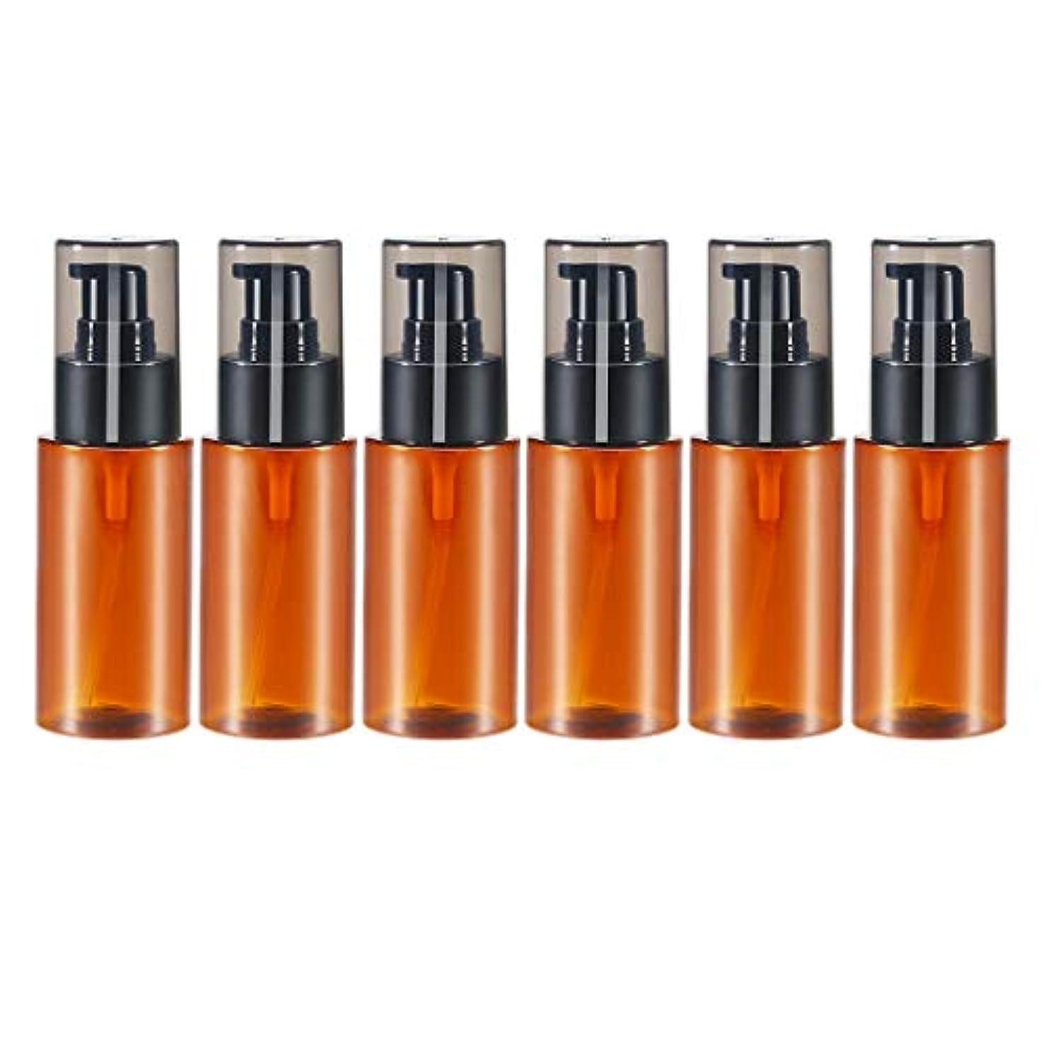 錆び枯渇超えてHellery スプレーボトル 60ml 6本 アロマオイル 精油 香水やアロマの保存 小分け用 保存 詰替え 全2色 - 褐色
