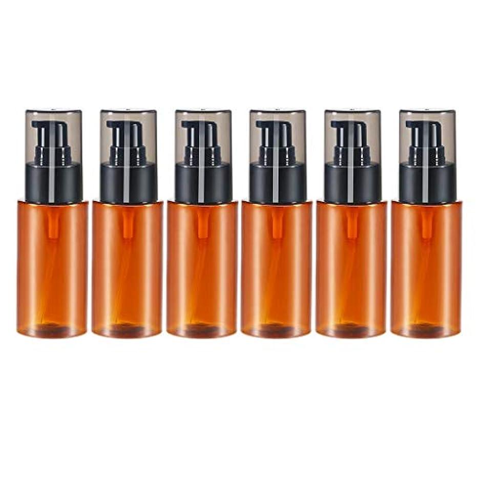 使用法ブラストメタルラインHellery スプレーボトル 60ml 6本 アロマオイル 精油 香水やアロマの保存 小分け用 保存 詰替え 全2色 - 褐色