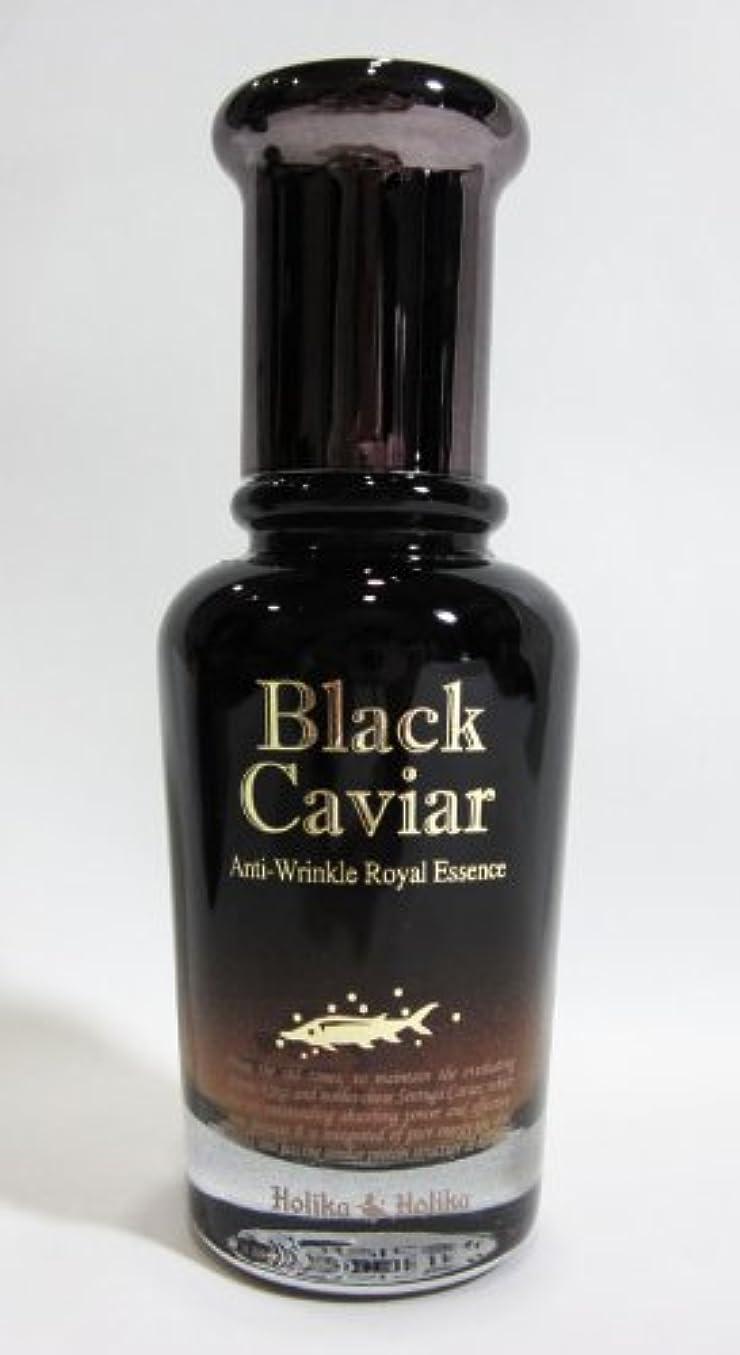 テクスチャー一月囲まれた【在庫処分◆大特価】Holika Holika ホリカホリカ ブラックキャビア アンチリンクル ロイヤルエッセンス Black Caviar Anti-Wrinkle Royal Essence