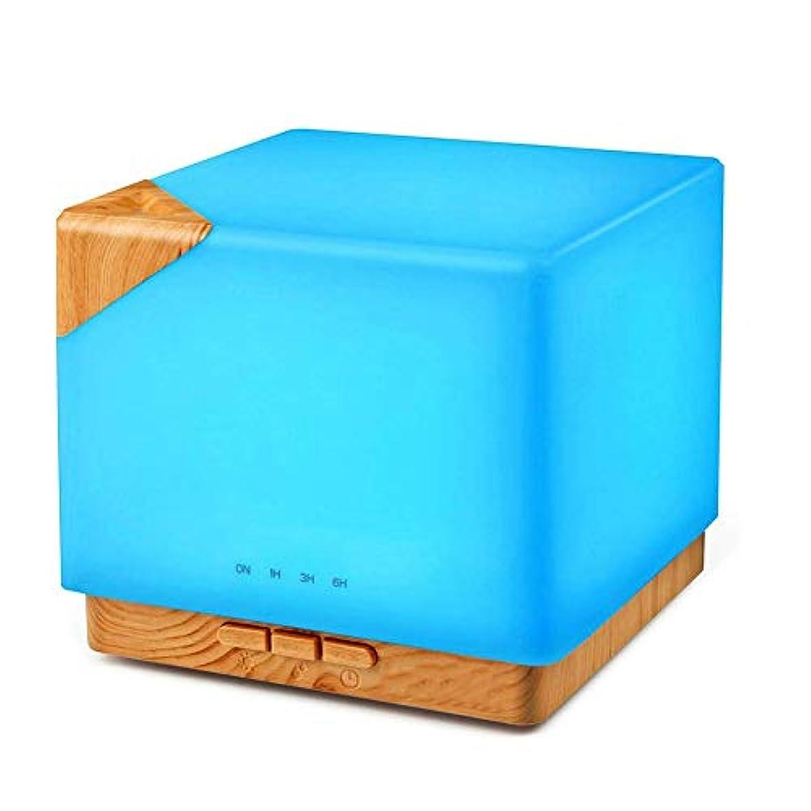 チャンバー密輸懺悔エッセンシャルオイルディフューザーは、自動で500ML超音波アロマディフューザーアロマディフューザークールミスト加湿器を遮断7は、色のLED