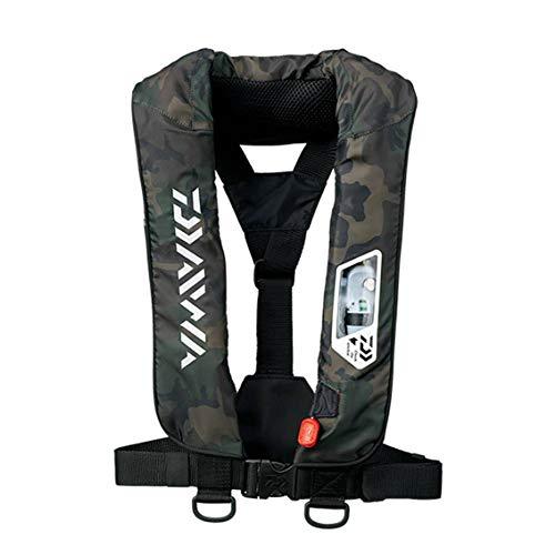 ダイワ(Daiwa) ライフジャケット ウォッシャブル 肩掛けタイプ手動・自動膨脹式 グリーンカモ フリー DF-2007