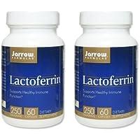 【バリュー2本セット】[海外直送品]Jarrow Formulas ラクトフェリン 250mg 60粒Lactoferrin