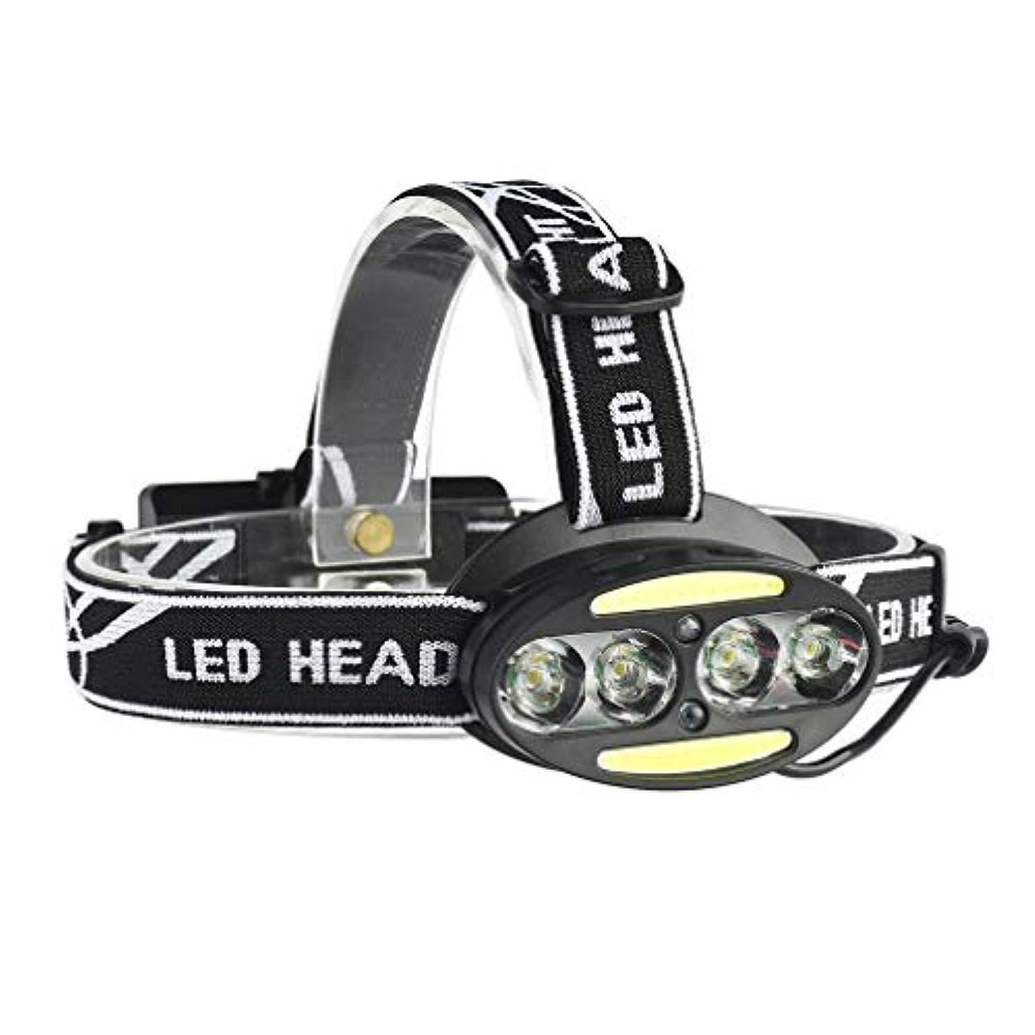 自分のために参加者下LEDヘッドライト ヘッドランプ USB充電式 超高輝度 角度調整可能 防水 超軽量 防災/登山/釣り/夜間作業/キャンプ/などに適用 USBケーブル付き