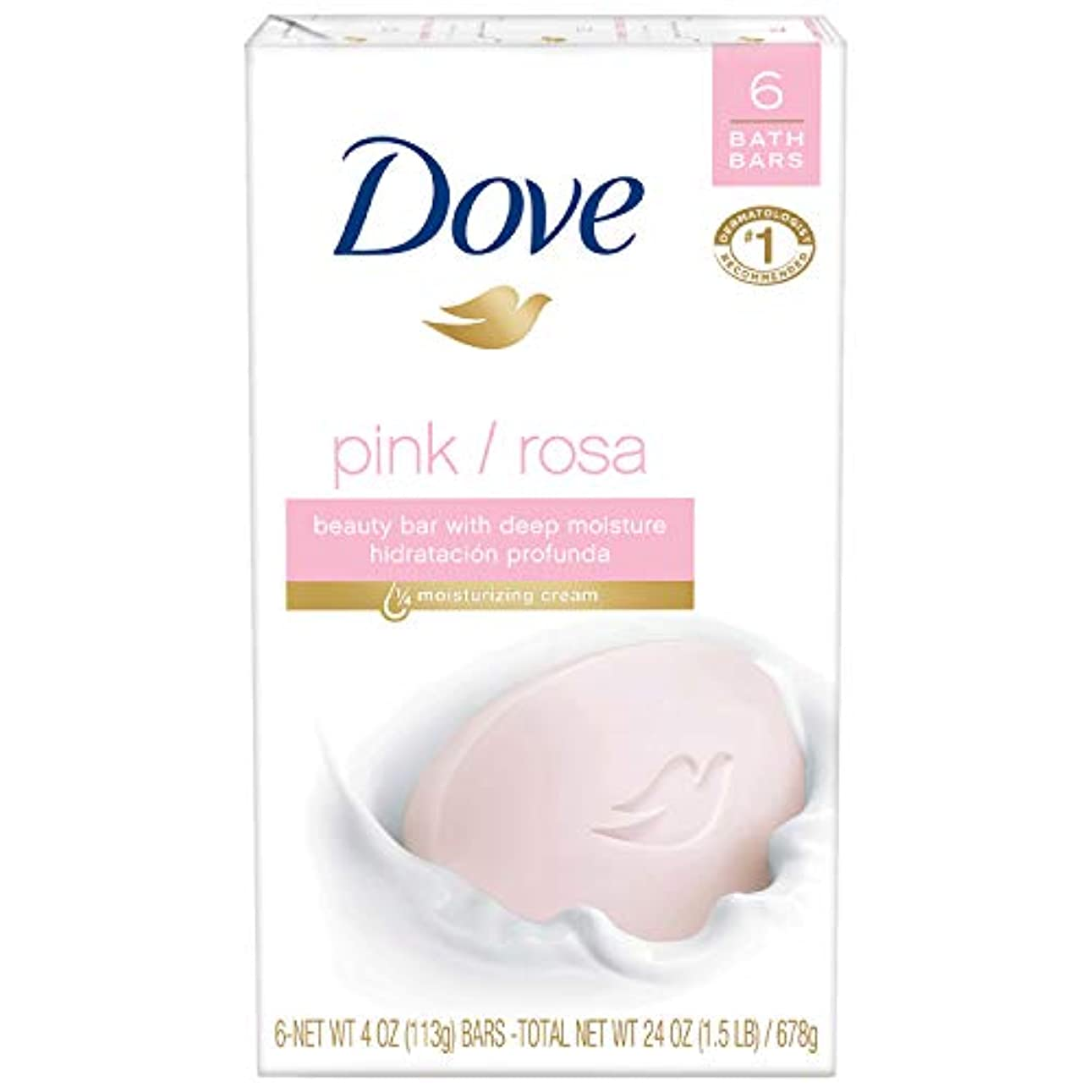 神社一過性ケント〈海外直送品〉ダブ 固形石鹸 ビューティーバー ピンク Dove Core Beauty Bar Pink 4 oz, 6 Bar