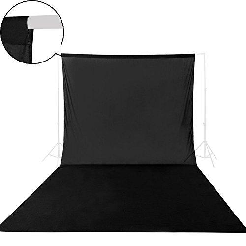 UTEBIT 撮影用 背景布 ブラック 超厚地 グリーンバック 300 x 600 cm 特大サイズ 3.34KG 無地 生地 純綿 織物 暗幕 布バック 不透明 ブラック 紙 写真背景 人物 商品 撮影対応 暗幕 黒 布 撮影ブース / スタジオ / ビデオ / テレビなど専用 3x6 m