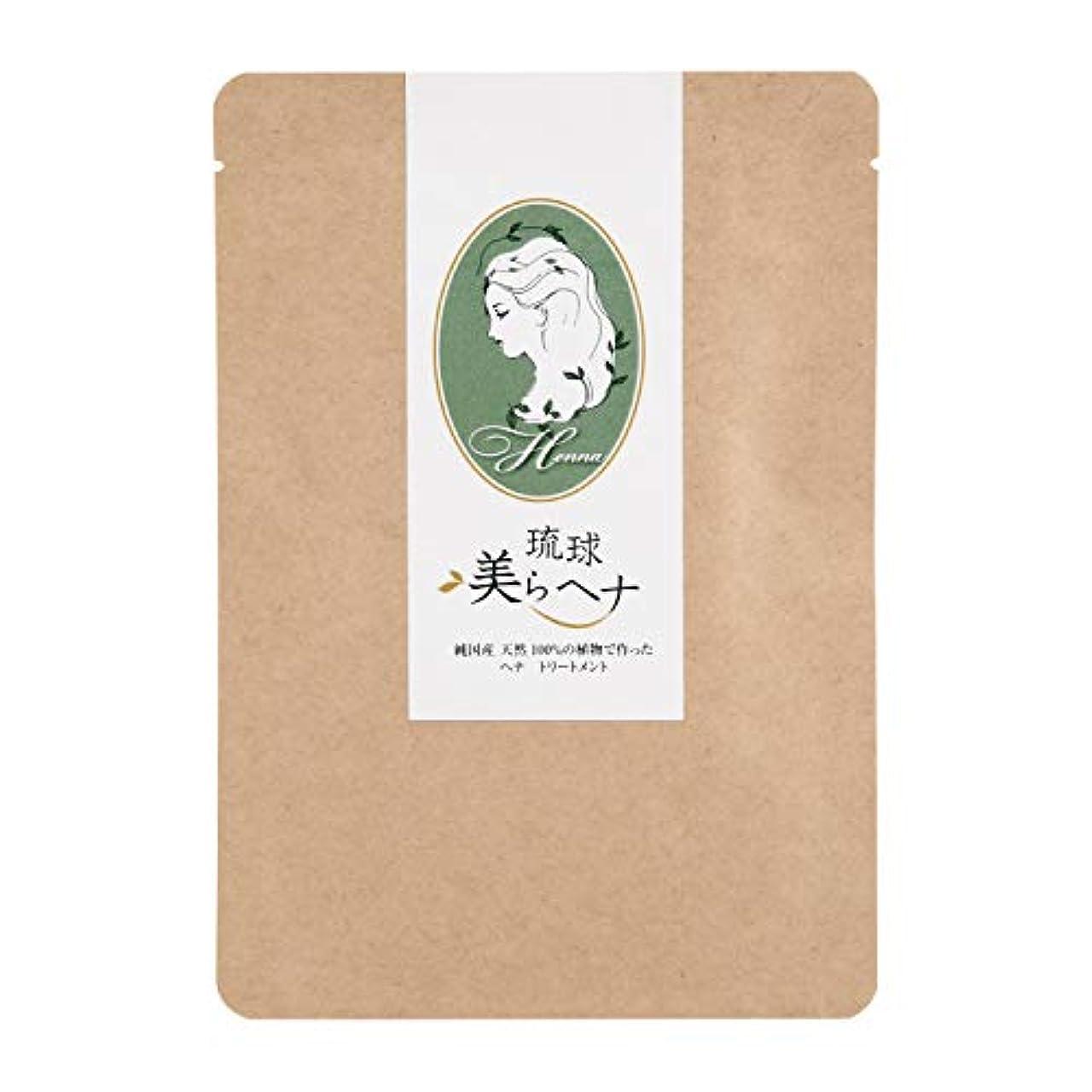 毎回ペパーミント速度純国産 ヘナ 白髪染め 天然 100% 琉球 美ら (ちゅら) ヘナ 100g
