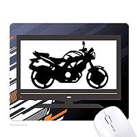機械的なオートバイのパターンのシルエット ノンスリップラバーマウスパッドはコンピュータゲームのオフィス