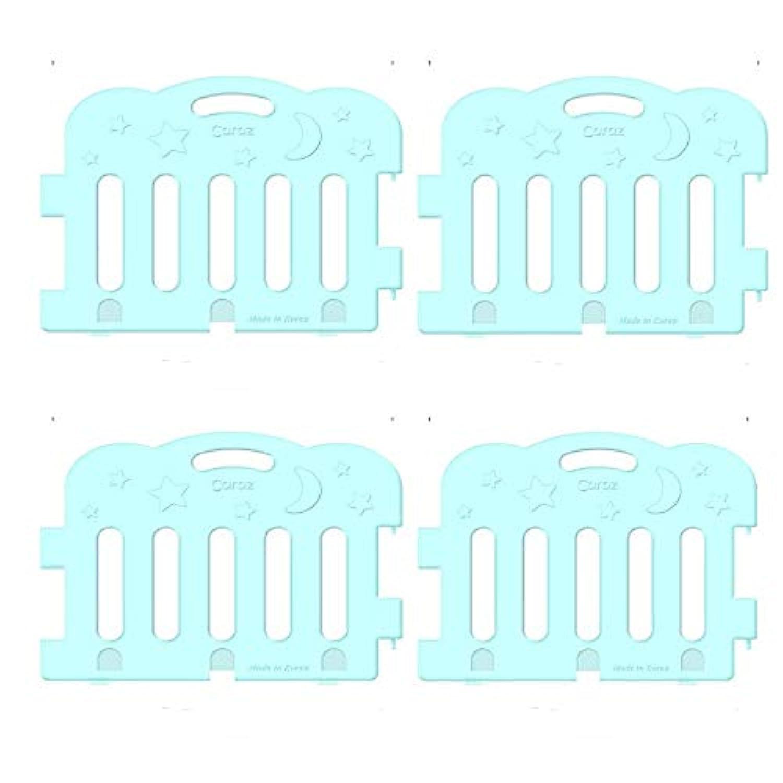 (Caraz) カラズ ジョイント式ベビーサークル 4枚 サークル対応マット〔並行輸入品〕 (マット4段, ミント)