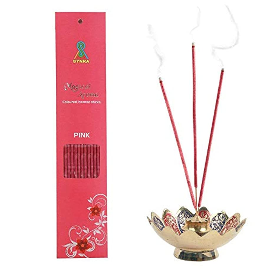 泣き叫ぶ凝縮する中世のMagical Aroma Coloured Incense Stick - Pink
