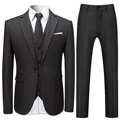 c7ae9784addf6 YFFUSHI スーツ メンズ スリーピース 1つボタン 綿 XS-4XL 全11色 無地 多色 セットアップ 衣装 パーティー お洒落 カジュアル