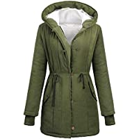Macr&Steve Women's Winter Warm Thicken Lamb Wool Coat Parka Cotton-Padded Outwear Jacket