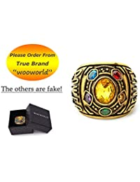 Wooworld Thanos Rings Infinity War Soul Stone Power Ring Gold Ring Cosplay Costume Prop