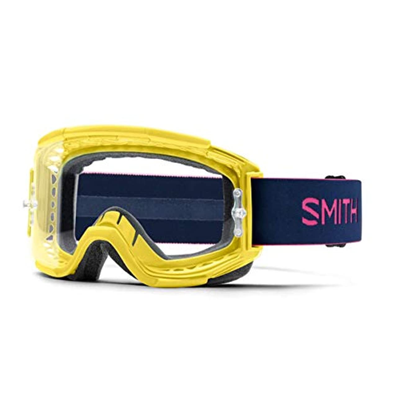 メロディアススマイル飛ぶSmith Optics Squad 大人用 MTB オフロード サイクリングゴーグル - シトロン/インディゴ/クリア AFC/ワンサイズ