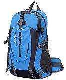 登山用 大容量40L リュックサック バックパック ブルー