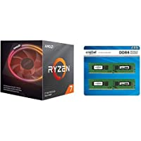 AMD Ryzen 7 3700X with Wraith Prism cooler 3.6GHz 8コア / 16スレッド 36MB 65W【国内正規代理店品】 100-100000071BOX + CFD販売 デスクトップPC用メモリ PC4-21300(DDR4-2666) 16GB×2枚 288pin (無期限保証)(Crucial by Micron) W4U2666CM-16G