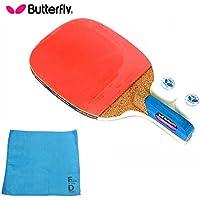 バタフライ(Butterfly) ADDOY P10 卓球 ラケット ペングリップタイプ (ラケット、ボール2個、オリジナル スポーツタオル1枚)