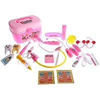monkeyjackごっこ医者Dentist CarryケースキットRole Playing Setキッズ子供おもちゃギフトピンク