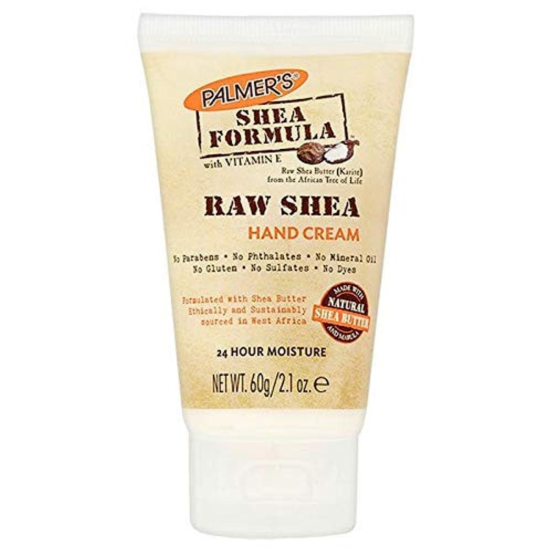 反対した拘束する種類[Palmer's ] パーマーのシア式生シアハンドクリーム60ミリリットル - Palmer's Shea Formula Raw Shea Hand Cream 60ml [並行輸入品]