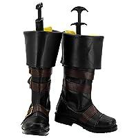 TBar NieR:Automata ニーア オートマタ 9S ヨルハ九号S型 コスプレ ブーツ 靴 下駄 ハイヒール シューズ (男性用26.5cm)