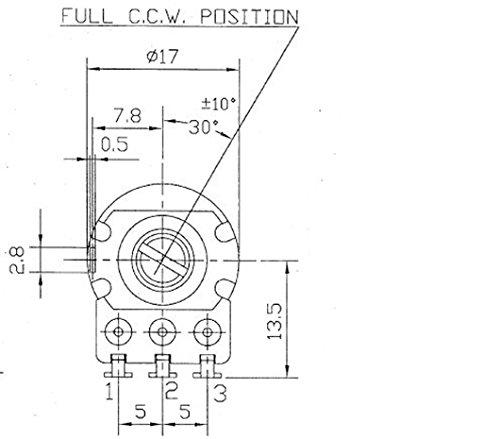 Alpha Rv16 A 500k Potentiometer