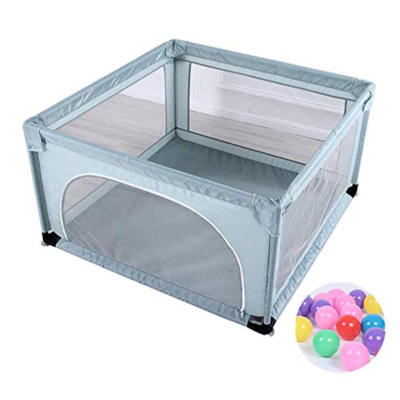 200ボールのマットを持つ赤ちゃんの遊び場キッズ保育園安全遊び場ダークグリーン屋外メッシュトラベリングフェンス