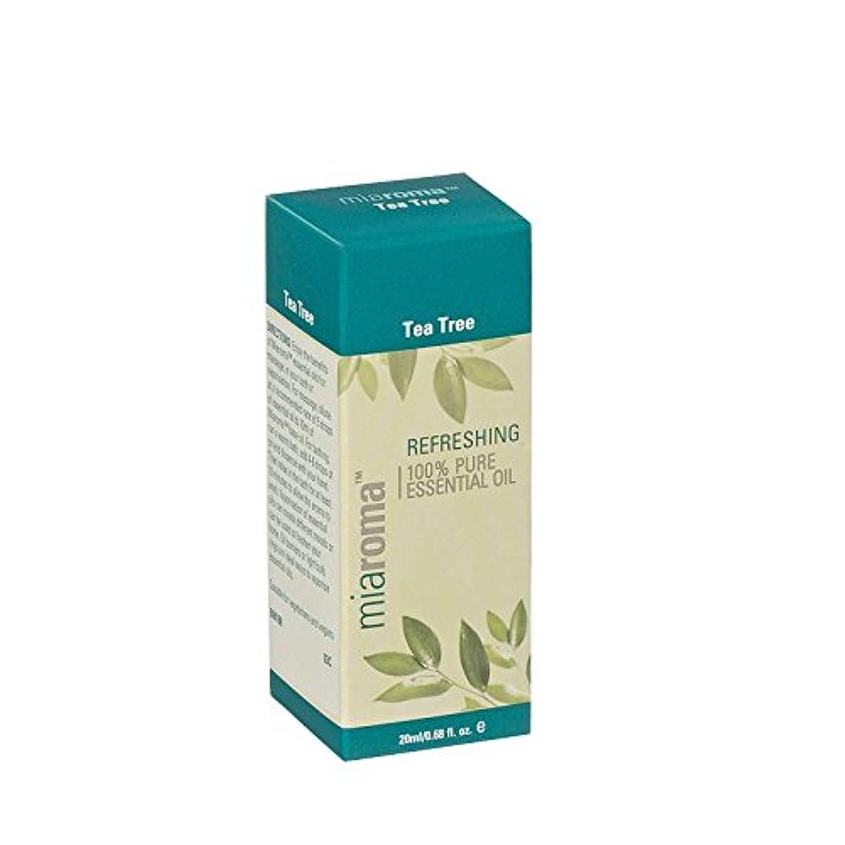 渦不正確高さMiaroma Tea Tree Pure Essential Oil (Pack of 2) - Miaromaのティーツリーの純粋なエッセンシャルオイル (x2) [並行輸入品]
