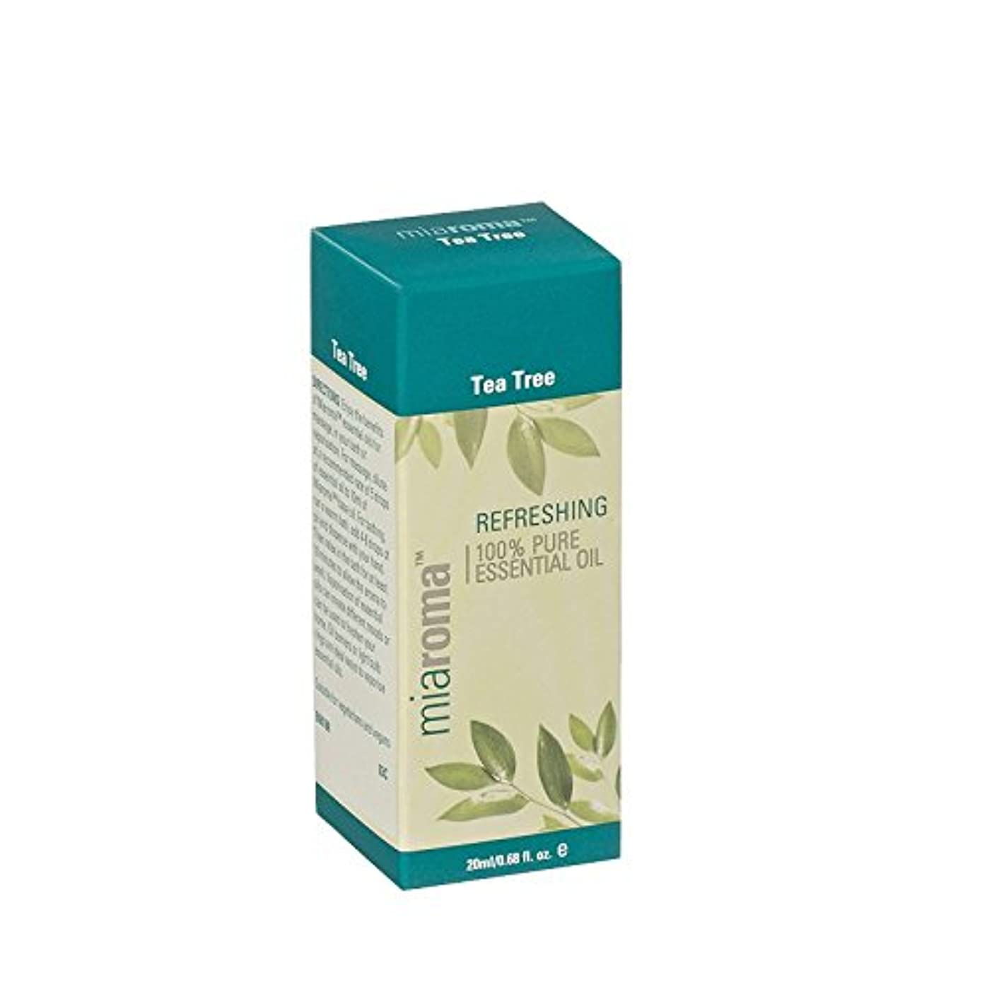 次リスト飼料Miaroma Tea Tree Pure Essential Oil (Pack of 2) - Miaromaのティーツリーの純粋なエッセンシャルオイル (x2) [並行輸入品]