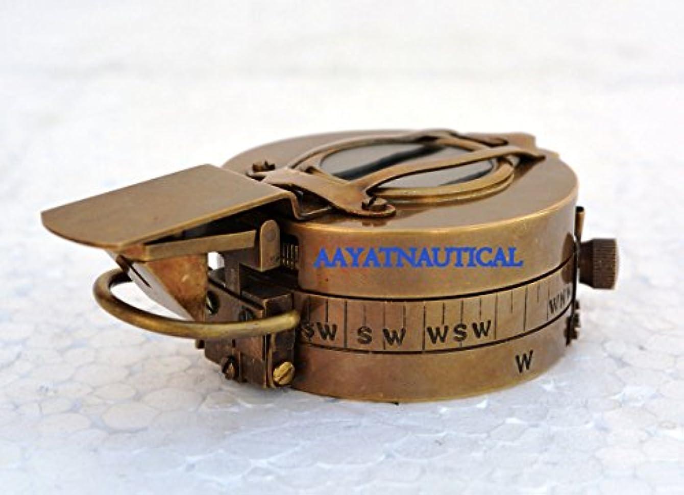 カード空の欲望NauticalエンジニアリングレンズMaritime Military真鍮コンパス